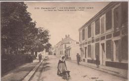 """Saint-Denis D´Oléron  """" Le Débit De Tabac Et Le Jardin Public """" Très Belle Animation ! - Ile D'Oléron"""