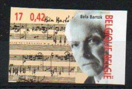 Belgique 2000 2958 Non Dentelé ** Tirage 1100 - Béla Bartók - Compositeur - No Dentado
