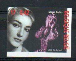 Belgique 2000 2960 Non Dentelé ** Tirage 1100 - Maria Callas - Chanteuse D' Opéra - No Dentado