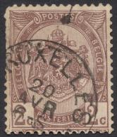 Belgium,  2 C. 1894, Sc # 62, Mi # 60, Used (2) - 1893-1907 Coat Of Arms