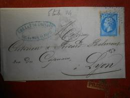 Lot Du 3.09.13-18 Lettre De Paris, Etoile 24,verso - 1862 Napoléon III.