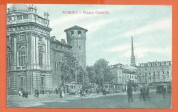 HB264, Torino, Piazza Castello, Tram, Tramway , Animée, Non  Circulée - Places