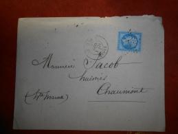 Lot Du 3.09.13-20_ Lettre De Paris, Etoile 24 R De Clercy;verso - 1862 Napoléon III.