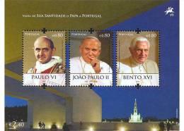 PORTUGAL 2010 -Visite Du Pape Benoit XVI Au Portugal En 2010 Portraits 3 Papes - BF Neuf // Mnh - 1910-... Republik