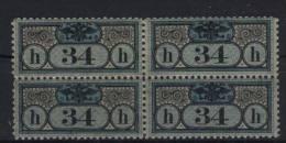 �sterreich Gerichtszustellmarke Michel No. 2 B ** postfrisch Viererblock