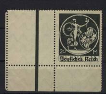 Deutsches Reich Michel No. 138 I ** postfrisch / Nebenfeld * ungebraucht oben angetrennt