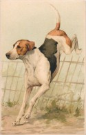 2 BELLE CPA ILLUSTREE : CHIEN DE CHASSE  POINTER HUNT HUNTING - Dogs