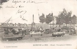 ROCHEFORT-SUR-MER ARSENAL TERRE-PLEIN DDE L'ARTILLERIE CANON 1900 CHARENTE - Rochefort