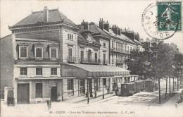 DIJON GARE DES TRAMWAYS DEPARTEMENTAUX TRAIN LOCOMOTIVE 21 - Dijon