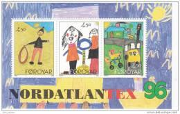 B] Feuillet Sheet ** Féroé Foroyar Dessins D´enfants Chlidren´s Drawing Nordatlantex 96 - Faroe Islands