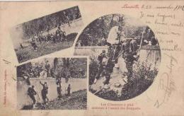 LUNEVILLE LES CHASSEURS A PIED MONTANT A L'ASSAUT DES BOSQUETS - Luneville