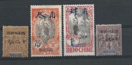 Chine China (Tchongking + Mongtseu) Cote 54 Euro (lmtp) - Sin Clasificación