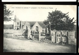 Cpa  Du 22 Environs De  Lannion  --   Loguivy , Les Fontaines Et L' église    6ao11 - Lannion