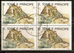 Sao Tome E´ Principe 1990 Landscape Durer Painting Art Sc 971 Cancelled St. Thomas & Prince Is. ++923-64B - Unclassified