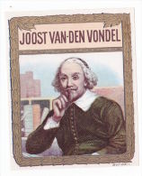 1 Cigar Box Label Joost Van Den Vondel Outer - Etiketten