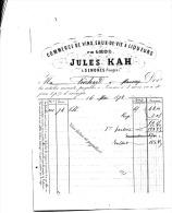 SENONES Commerce De Vin Jules Kah 1878 - 1800 – 1899