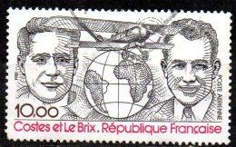 FRANCE 1981 Air. Dieudonne Costes And Joseph Le Brix - 10f Costes, Le Brix And Breguet 19 Super TR Nungesser Et Coli  FU - 1960-.... Gebraucht