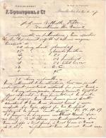 BELGIQUE - BRUXELLES - AMEUBLEMENT - IMPORTATION EXPORTATION -  F. SQUINQUEL & CIE - LETTRE - 1907 - Belgique
