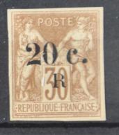 P 236 ++ RÉUNION 1885 MCHL 09 HINGED * PLAK(REST) - Réunion (1852-1975)