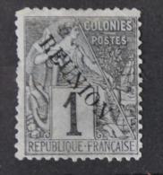 P 237 ++ RÉUNION 1891 MCHL 17 HINGED * PLAK(REST) - Réunion (1852-1975)