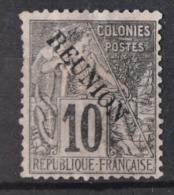 P 237 ++ RÉUNION 1891 MCHL 21 HINGED * PLAK(REST) - Réunion (1852-1975)