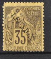 P 237 ++ RÉUNION 1891 MCHL 25 HINGED * PLAK(REST) - Réunion (1852-1975)
