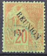 P 238 ++ RÉUNION 1891 MCHL 31 CANCELLED USED - Gebraucht