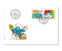 Switzerland 2013 - The Smurfs FDC - First Day Cover - Fumetti