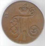 RUSSIA 1 KOPEK 1801 PAUL I - Russia