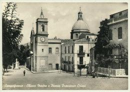 CAMPOFRANCO (CL) LA CHIESA MADRE E PIAZZA FRANCESCO CRISPI 1957 - Caltanissetta