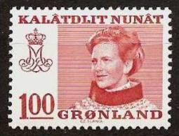 GREENLAND 1989 - FREIMARKEN: Queen MARGRETHE II - FLUOR Ex Mi 101y MNH ** Cv€1,50 V507 - Non Classificati
