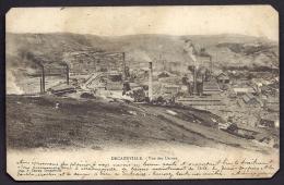 CPA PRECURSEUR- FRANCE- DECAZEVILLE (12)- VUE SUR LES USINES EN 1900- CHEMINÉES FUMANTES - Decazeville