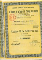 Ste Anonymr Franco Bulgare La Filature De La Soie Et Le Tissage Des Soieries Action 500 F   1928 - Actions & Titres