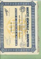 STE G2N2RALE DES GRAPHITES A Tananarive 5MADAGASCAR) Action Au Porteur 1949 - G - I