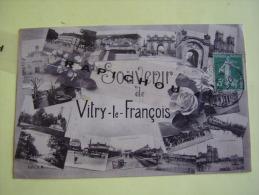 CPA - SOUVENIR DE VITRY-LE-FRANCOIS - Greetings From...