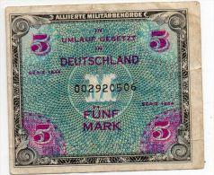 ALLEMAGNE : 5 Marks 1944 (vf) - 5 Mark