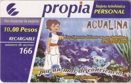 PR-038 TARJETA DE CUBA DE ACUALINA (NUEVA-MINT) PECES-PEZ-FISH - Cuba