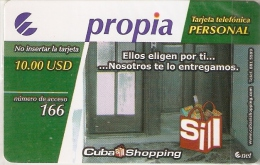 PRD-017 TARJETA DE CUBA PROPIA DE $10 DE CUBA SHOPPING  (NUEVA-MINT) - Cuba