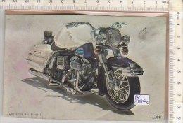 PO1088C# FIGURINA A RILIEVO OMAGGIO CORRIERINO DEI PICCOLI - MOTO GUZZI ? - Motor Bikes