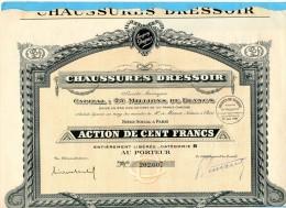 Action-CHAUSSURES DRESSOIR  1928-action De 10 0 Frs 1928 - Industrie