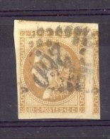 France  :  Yv  43A  (o)   GC 260  Avignon - 1870 Bordeaux Printing