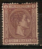1875 ALFONSO XII 40 CT. NUEVO. VER. 165 € - Unused Stamps