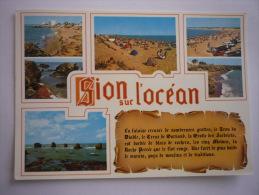 Saint Hilaire De Riez - Sion Sur L'ocean  ( 85 ) Multivue - Saint Hilaire De Riez