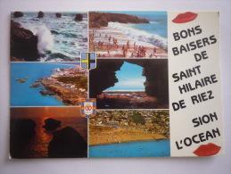 Saint Hilaire De Riez - Sion Sur L´ocean  ( 85 ) Multivue - Saint Hilaire De Riez