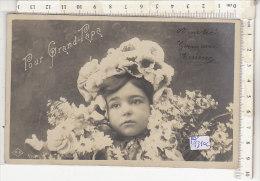 PO1310C# BAMBINI - FILLETTE - RITRATTO CON  FIORI   VG 1905 - Portraits