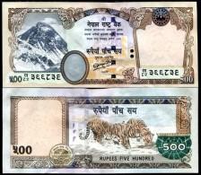 NEPAL 500 RUPEES 2011 P 66 NEW SIGN 19 AUNC ABOUT UNC - Népal