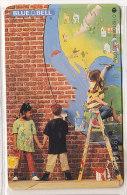 Telefonkarte  O 1627 08.94 15.000 DTMe, 6,- DM, Blue Bell, Missa Pacis, Kinder Malen Weltkarte - Malerei