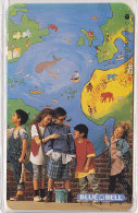 Telefonkarte  O 1628 08.94 15.000 DTMe, 6,- DM, Blue Bell, Missa Pacis, Kinder Malen Weltkarte - Malerei