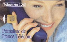 Telefonkarte  A62118476 - 02/96 - 1 000 000 Ex., 120 Unités, France Télécom, Junge Frau Mit Telefonhörer - Telefone