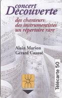 Telefonkarte  B44042001 - 05/94 - 1 000 000 Ex., 50 Unités, France Télécom, Concert Découverte Des Chanteurs - Malerei